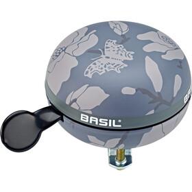 Basil Magnolia Timbre de bicicleta Ø80mm, negro/gris